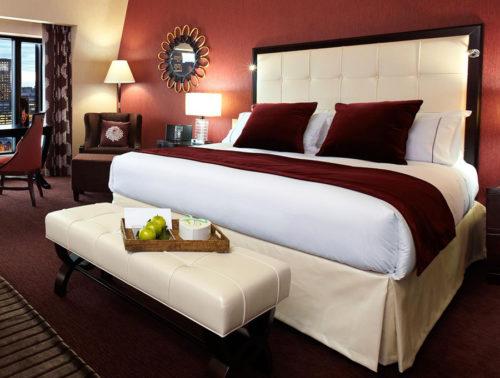 Rodapie de cama para hotel